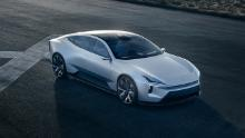 The Polestar Precept concept car shows a new face for Polestar's future models.