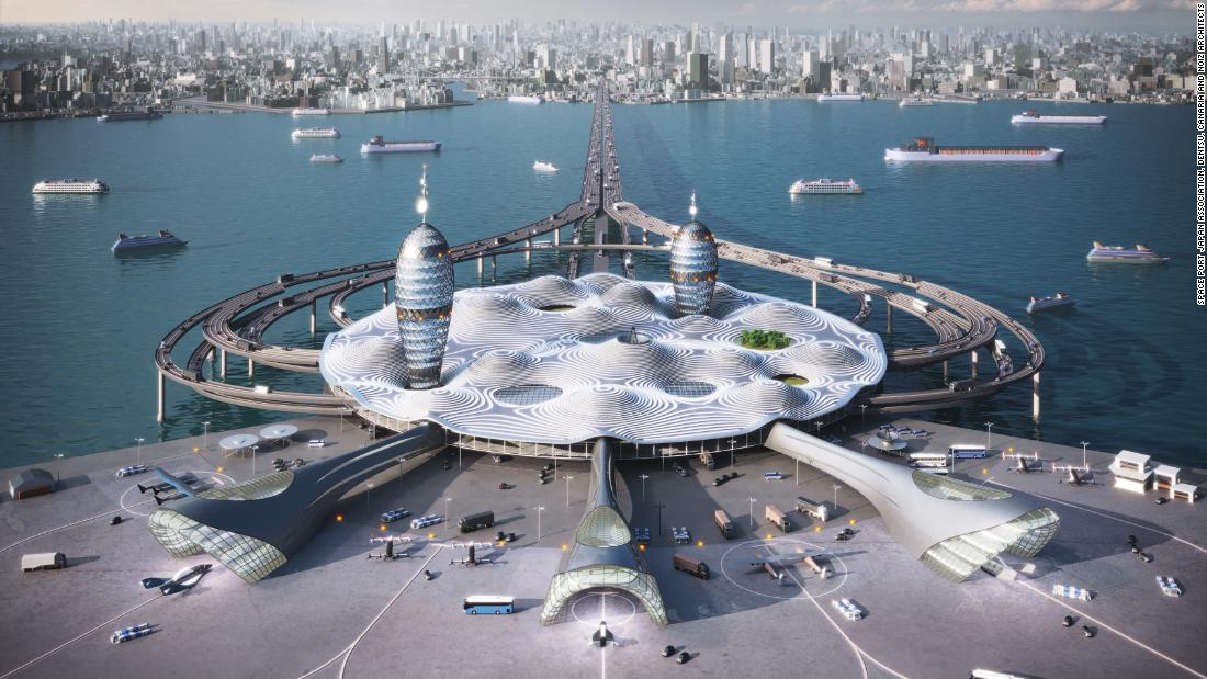 This floating spaceport in Japan could bring space travel to the city