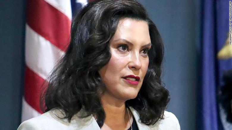 In a June 17, 2020, photo provided by the Michigan Office of the Governor, Michigan's Democratic Gov. Gretchen Whitmer addresses the state during a speech in Lansing, Mich.