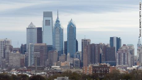 A general view of the Philadelphia city skyline