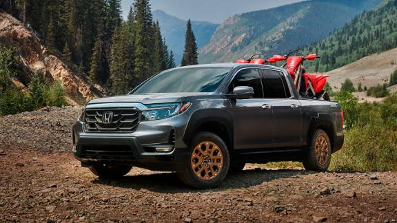 The 2021 Honda Ridgeline has been given a new more rugged looking face.