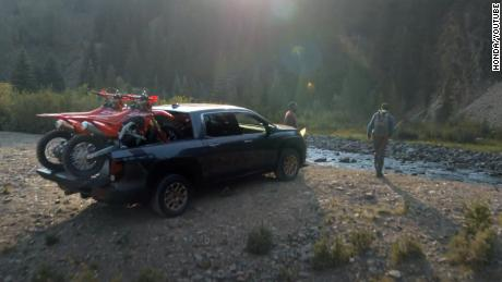 Honda's new TV ad shows the brand's trucks and SUVs in off-road environments.