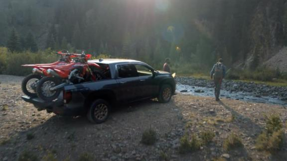 Honda's new TV ad shows the brand's trucks and SUVs in off-road settings.