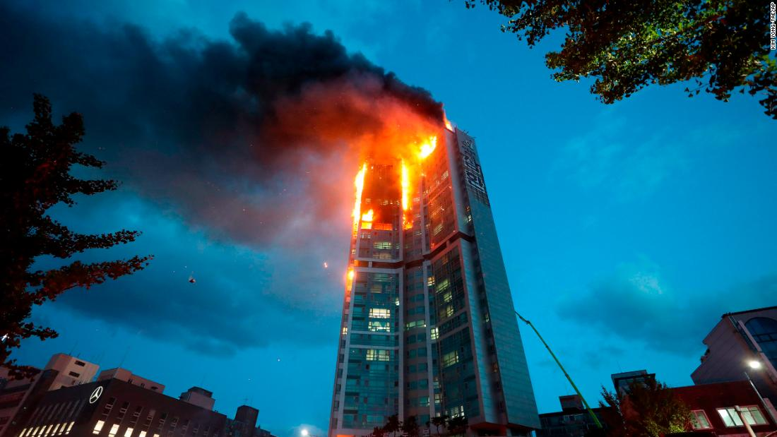 Dozens hospitalized after fire engulfs 33-story apartment building in South Korea – CNN