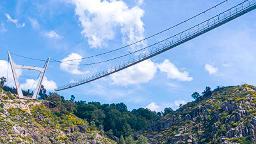World's longest pedestrian suspension bridge is opening in Portugal