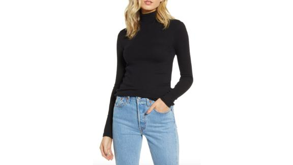 BP. Turtleneck Ribbed Top