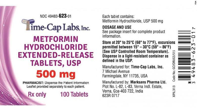 A diabetes drug has been recalled because it contains high levels of cancer-causing agent
