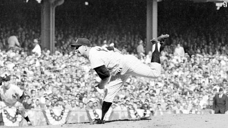 New York Yankees pitcher Whitey Ford on Oct. 8, 1960.