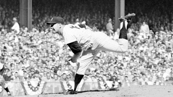 """Hall of Fame pitcher <a href=""""https://www.cnn.com/2020/10/09/us/whitey-ford-dead-new-york-yankees-obit-spt-trnd/index.html"""" target=""""_blank"""">Edward Charles """"Whitey"""" Ford</a> died October 9 at the age of 91. Ford finished his career with a 236 wins, the all-time record by a New York Yankee. The left-hander helped lead New York to 11 American League pennants and six World Series titles. Ford's 10 wins in World Series games are the most by any pitcher."""