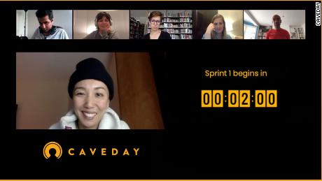 Cavedays are guided by a moderator, who chair short, energizing breaks.