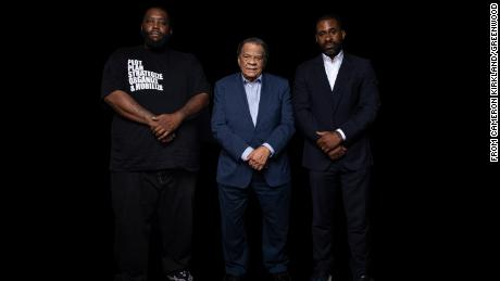 "From left, Greenwood bank founders Michael ""Killer Mike"" Render, former Atlanta Mayor Andrew Young and Bounce TV founder Ryan Glover"