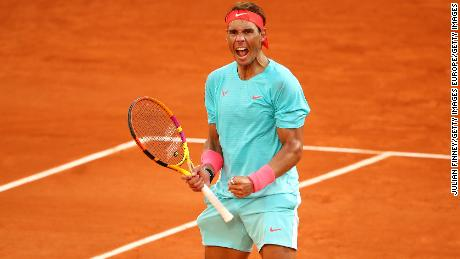 Nadal continues his run of never having lost a French Open semifinal.