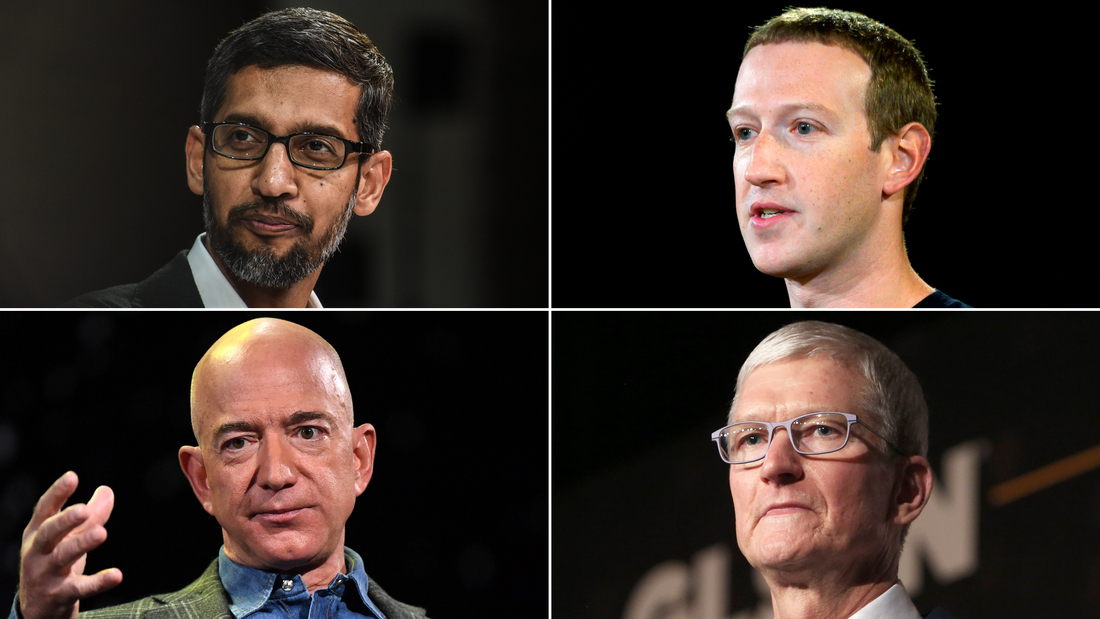 The CEOs of Google, Facebook, Amazon and Apple testified in a Congressional hearing on antitrust issues last year.