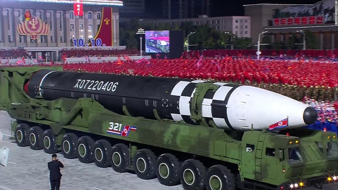 North Korea unveils massive new ballistic missile in military parade – CNN