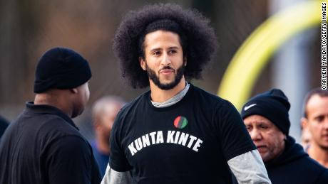 Colin Kaepernick during his NFL workout held in Riverdale, Georgia, on November 16, 2019.