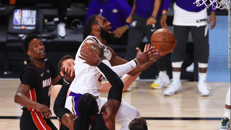 Lakers win record-tying 17th NBA title, giving LeBron James his 4th championship
