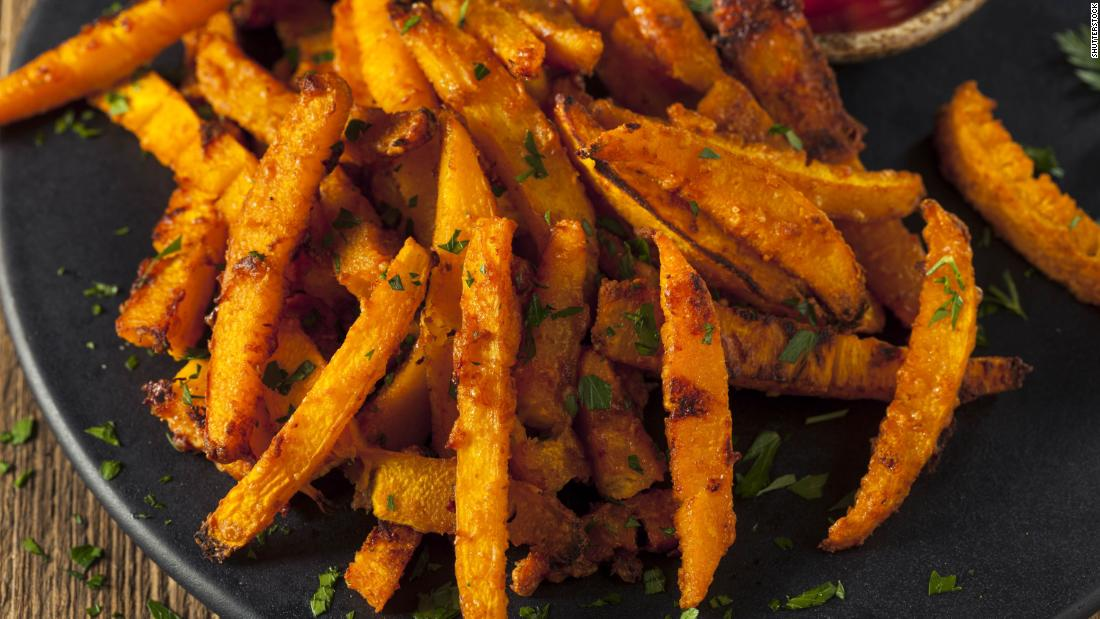 "Make your crispy <a href=""https://www.tasteofhome.com/recipes/air-fryer-pumpkin-fries/"" target=""_blank"">pumpkin fries</a> either sweet or savory."