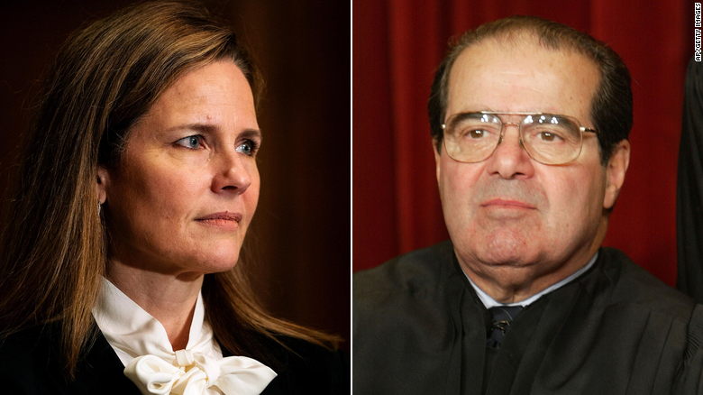 Antonin Scalia's legacy looms over the Amy Coney Barrett hearings