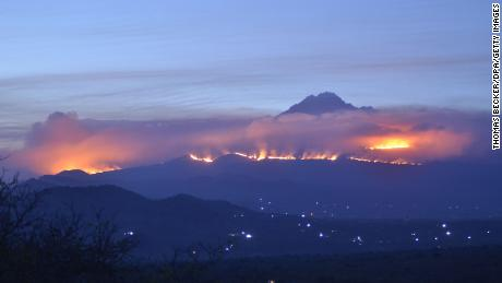 Fire on Africa's highest mountain is testing firefighters.
