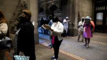 Voters line up to cast ballots this month at City Hall in Philadelphia.