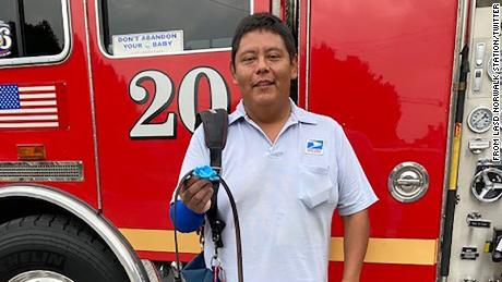 EVERY DAY HERO-A male accidently cut himself w/a chainsaw. Luckily Mail Carrier Mr. Garcia heard the family's screams & sprung into action using his belt as a tourniquet 2 stop the bleeding on the man's arm.  Man has good prognosis due 2 Mr. Garcia's actions.