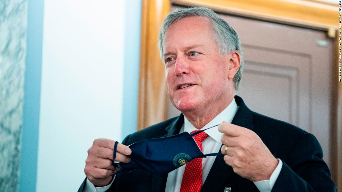 """White House chief of staff Mark Meadows says the US isn't """"going to control"""" the pandemic, as cases surge nationally and at least five Pence aides test positive"""