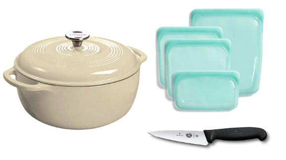 Kitchen essentials from Le Creuset, Stasher, Corelle and more