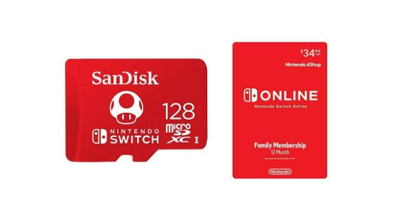 SanDisk 128GB microSD card with 12-months of Nintendo Switch Online