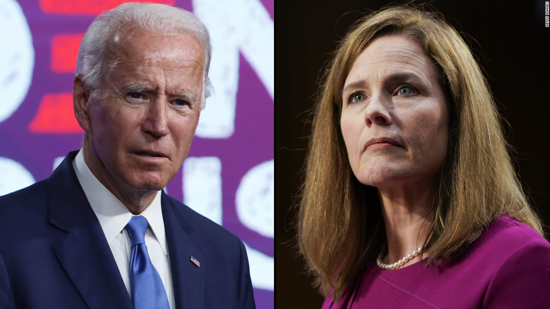 I'm voting for Joe Biden. I also think the Senate should confirm Judge Barrett