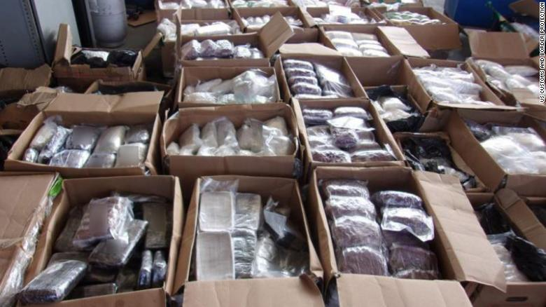 Authorities find 3,100 pounds of meth and other drugs hidden in truckload of medical supplies