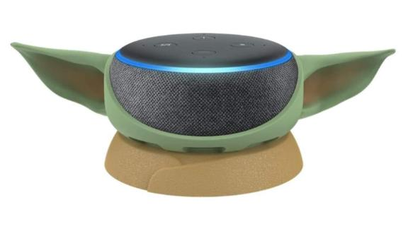Echo Dot with Mandalorian The Child Stand