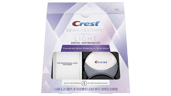 Crest 3D White Whitestrips With Light, Teeth Whitening Strips Kit
