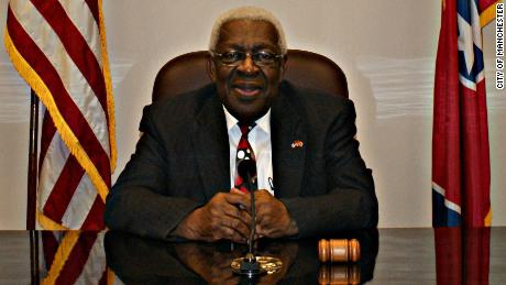 An official portrait of Lonnie Norman, the first Black mayor of Manchester, Tennessee, where the Bonnaroo festival is held.
