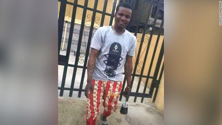 Jimoh Isiaq's family says he was killed by stray bullets fired by the Nigerian police during protests. Police denied they shot at anyone.