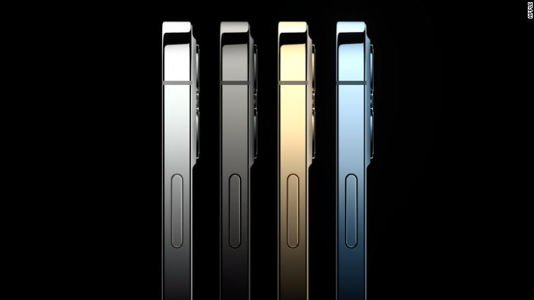 The iPhone 12 Pro comes in four different metallic finishes for added razzle dazzle.