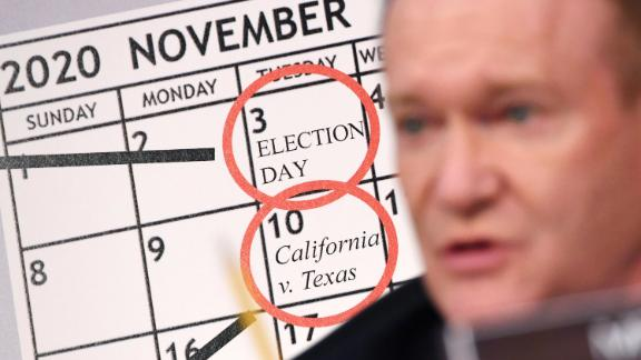 Coons speaks at the Barrett hearing on October 13. A week after Election Day, the Supreme Court is set to hear the case California v. Texas, which is challenging the constitutionality of the Affordable Care Act.