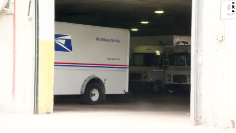 Postal Service agents responded to a report of undelivered mail on Sunday outside the home of a postal employee in Pennsylvania.