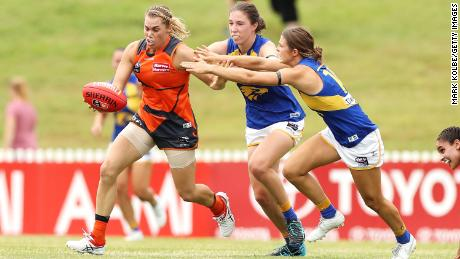 Jacinda Barclay (left), who played Australian rules for the GWS Giants, has died aged 29.