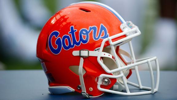 A helmet of the Florida Gators.