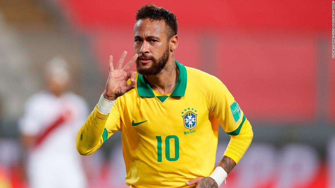 Neymar closes in on Pele's all-time scoring record with hat-trick for Brazil