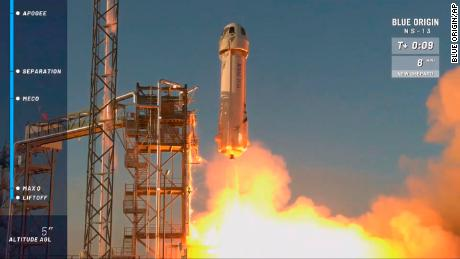 Jeff Bezos' rocket company launches first test of its tourism spaceship in a year  - 201014121031 blue origin new shepard rocket 1013 large 169 - Jeff Bezos is going to space on first crewed flight of Blue Origin rocket
