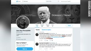 """A screenshot of the now-suspended Twitter account for """"Gary Ray"""" shows that the acount used an image of Robert Williams and pretended to be a Black Trump supporter."""
