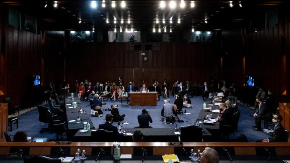 For the second day of Barrett's questioning, the Affordable Care Act was a dominant topic on both sides of the aisle. A week after the election, the Supreme Court will hear on a Republican effort to strike down the law.