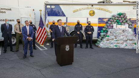 The drugs were seized on October 2. Acting DEA Administrator Timothy Shea announced the bust at a press conference Wednesday.