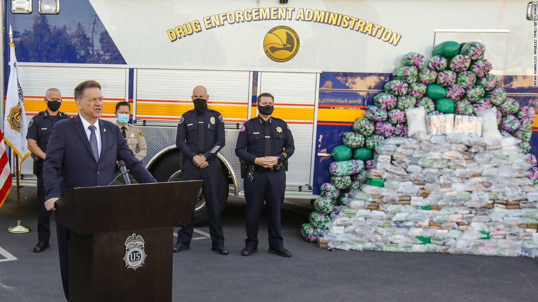 DEA announces biggest domestic seizure of meth in agency history