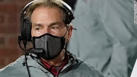 Alabama football coach Nick Saban has tested positive for Covid-19.