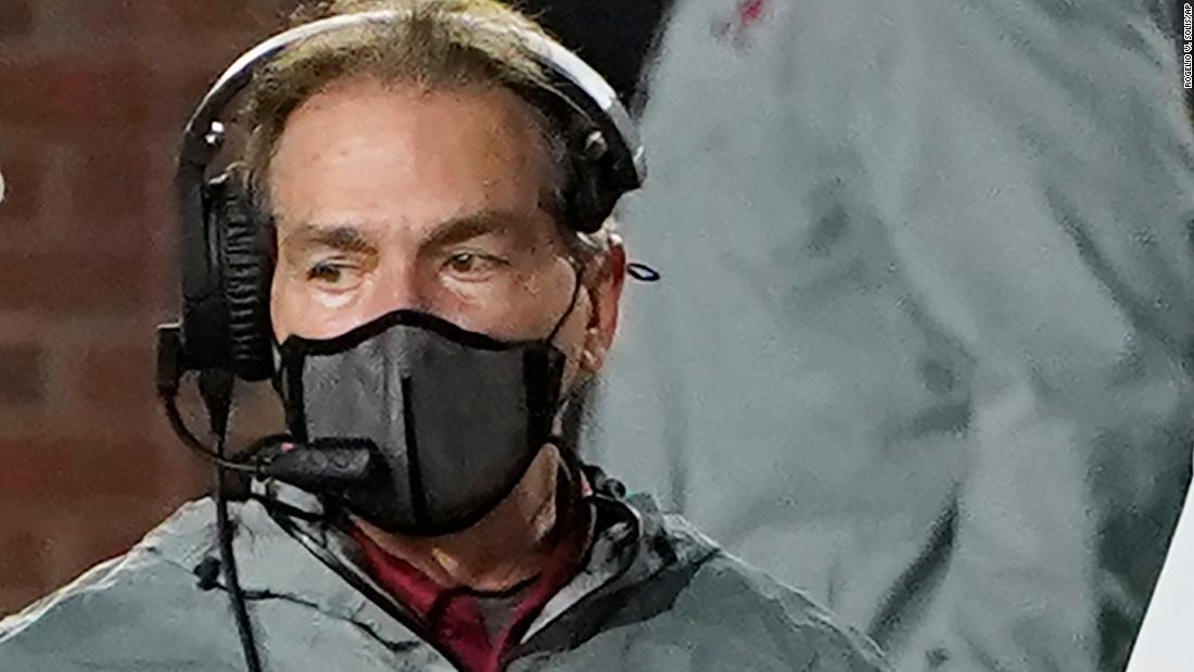 Alabama football coach Nick Saban tests positive for Covid-19