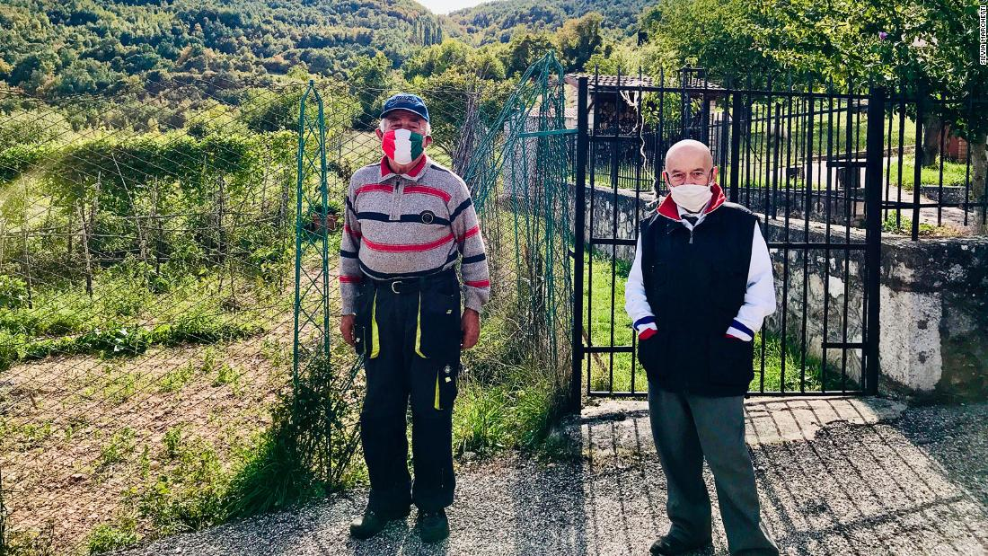 This Italian town has just two residents, but they still insist on wearing masks