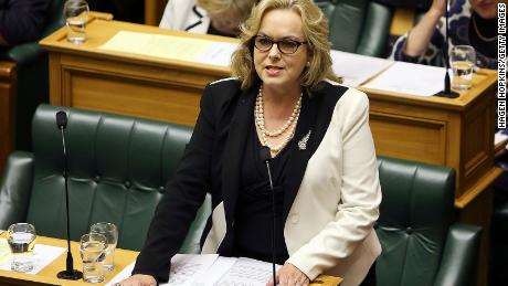 Then Justice Minister Judith Collins in Parliament on March 19, 2014, in Wellington, New Zealand after questions were raised about her trip to China.