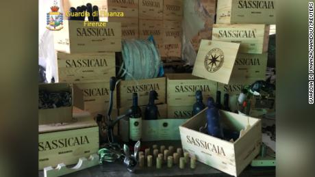 The sophisticated counterfeit operation bottled inferior wine from Sicily in a warehouse near Milan, with meticulously reproduced labeling and cases from Bulgaria, officials said.